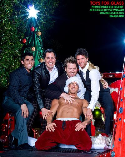 Shirtless Santa