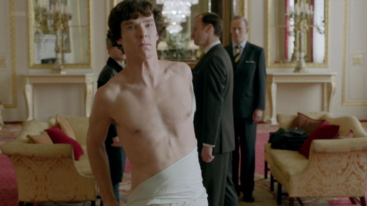 Shirtless benedict cumberbatch in sherlock menoftv com naked men