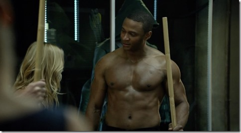 david ramsey shirtless arrow